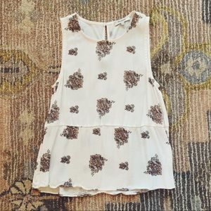 Madewell Ruffle Tank Top in Floating Paisley Small